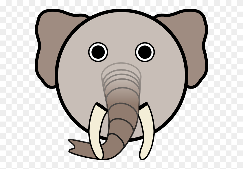 600x524 Head Clipart Baby Elephant - Baby Elephant PNG