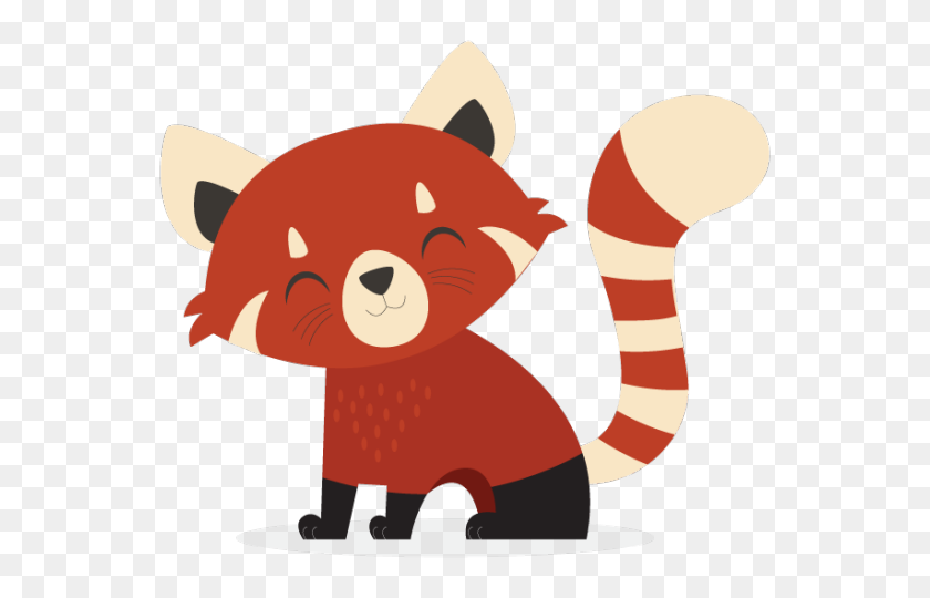 Head Clipart Red Panda - Panda Head Clipart