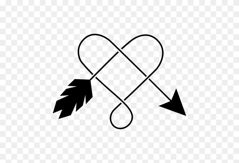 512x512 Heart And Arrow Logo Or Icon - Arrow Logo PNG