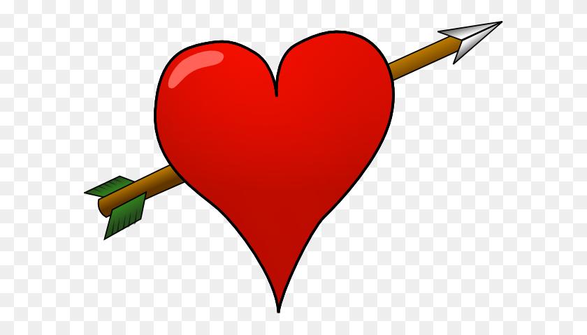 Heart Arrow Clip Art - Heart With Arrow Clipart