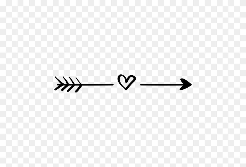 Heart Arrow Heartarrow Heartarrows Freetoedit - Heart With Arrow Clipart