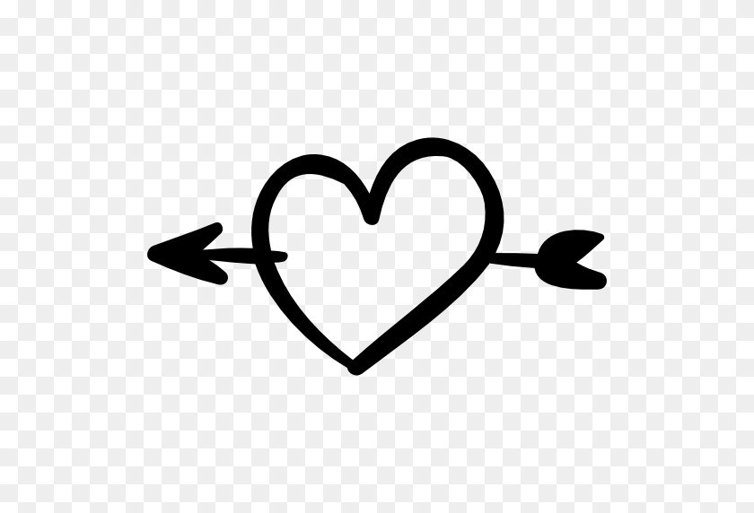 512x512 Heart Arrow Png Transparent Image - Arrow Heart Clipart