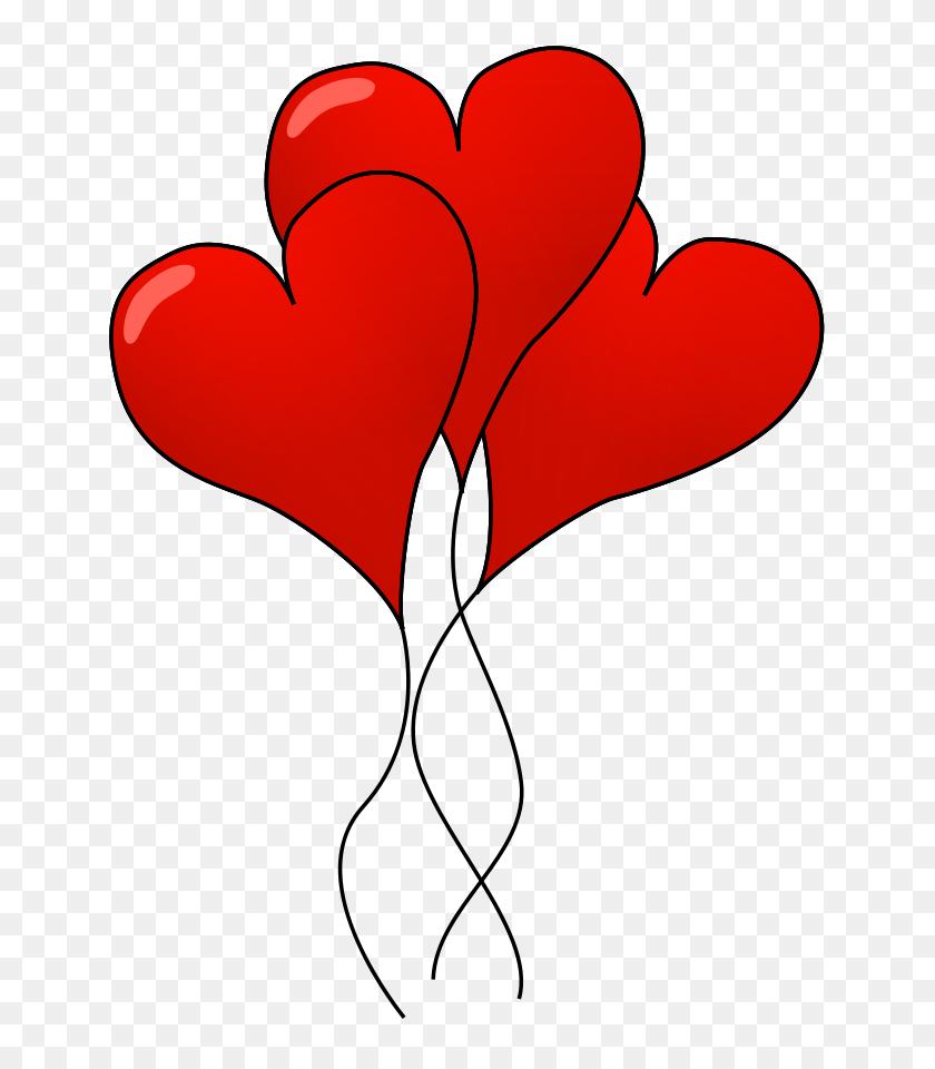 Heart Balloons Clipart, Vector Clip Art Online, Royalty Free - Up Balloons Clipart