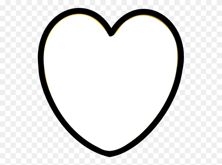 553x565 Heart Black And White Heart Clipart Black And White Heart - Love Clipart Black And White