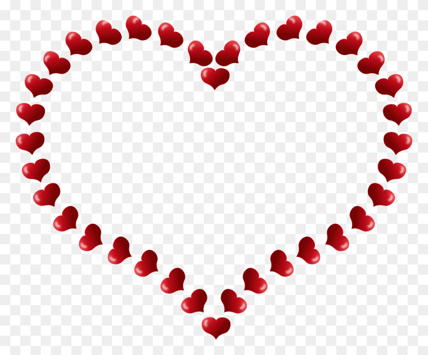 Heart Border Clip Art - Love Border Clipart