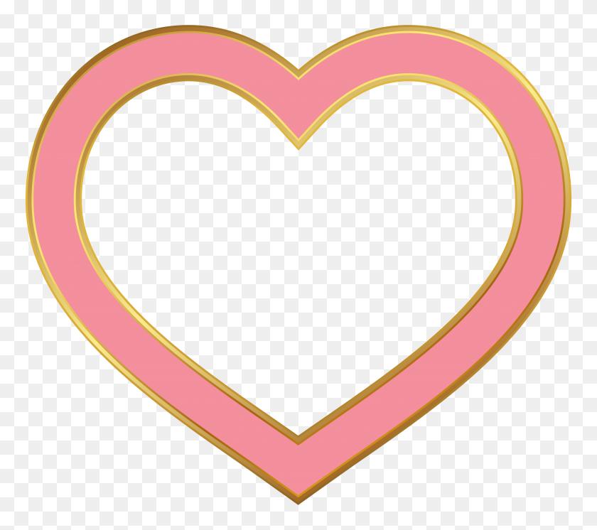 Heart Border Pink Png Clip Art - Love Border Clipart