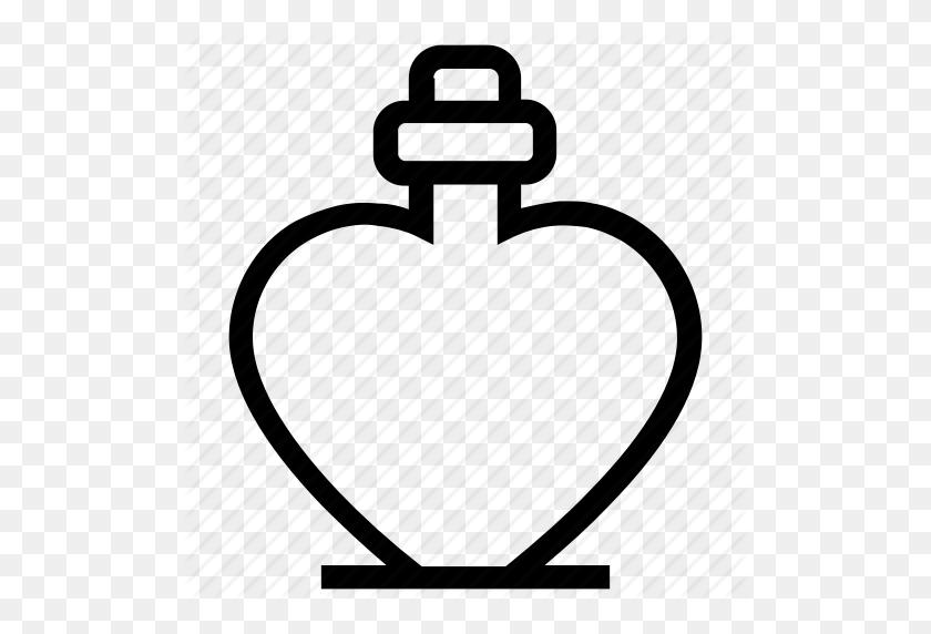 Heart Bottle, Heart Shaped, Perfume, Perfume Bottle, Perfume - Perfume Bottle Clip Art
