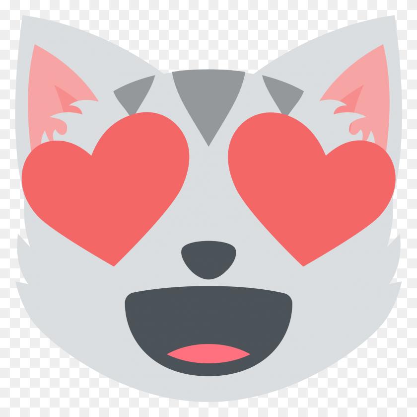 Heart Clipart Cat Smile Kitten Cat Heart Eyes Png - Cat Eyes Clipart