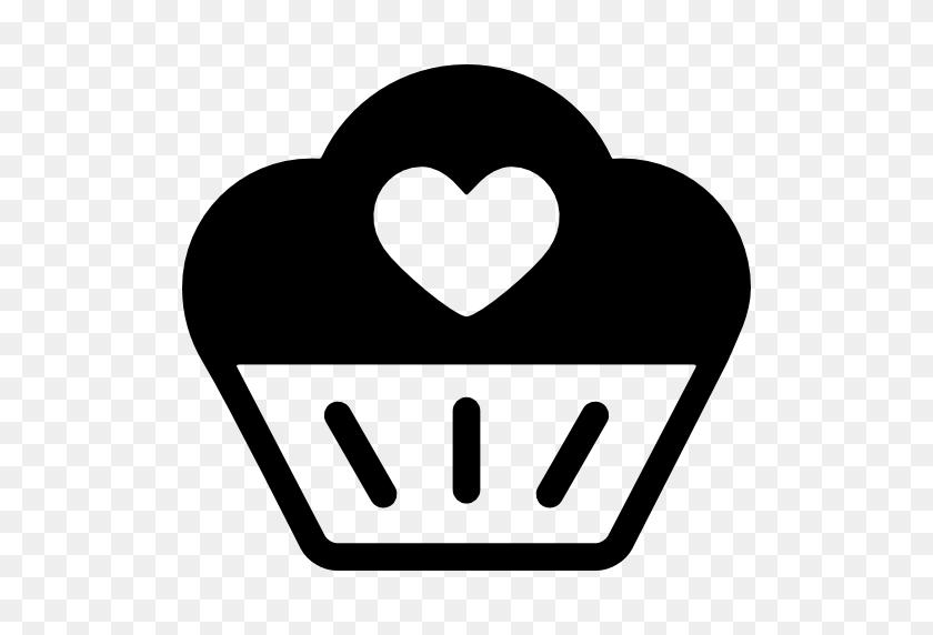 Heart Clipart Cupcake - Heart Silhouette Clip Art