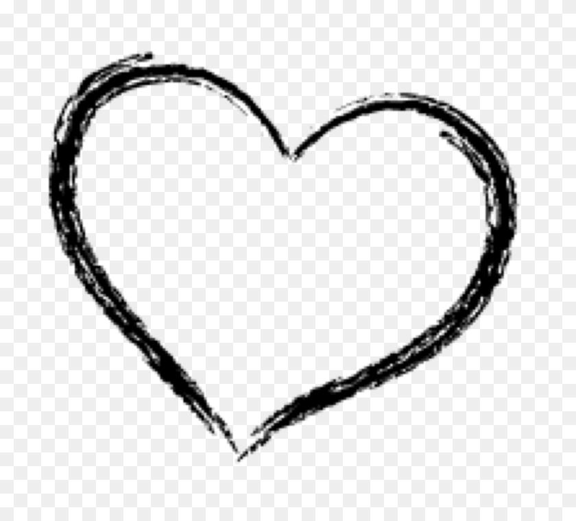 Heart Doodle Freetoedit - Heart Doodle PNG