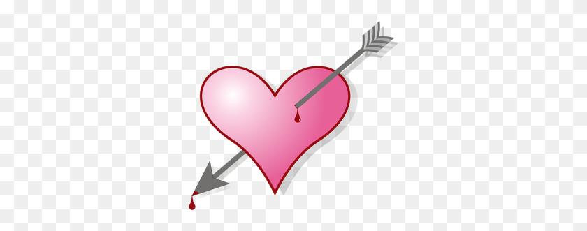 Heart Free Clipart - Heart With Arrow Clipart