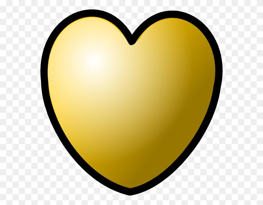 Heart Gold Theme Clip Art - Gold Heart PNG