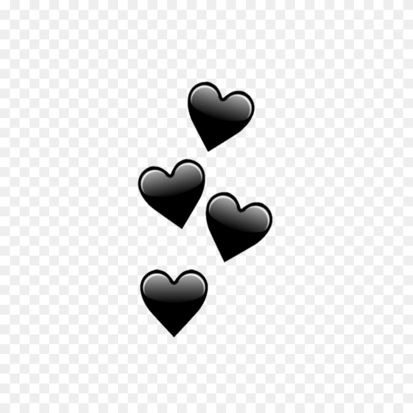 Heart Hearts Black Emoji Emojis - Black Heart Emoji PNG – Stunning