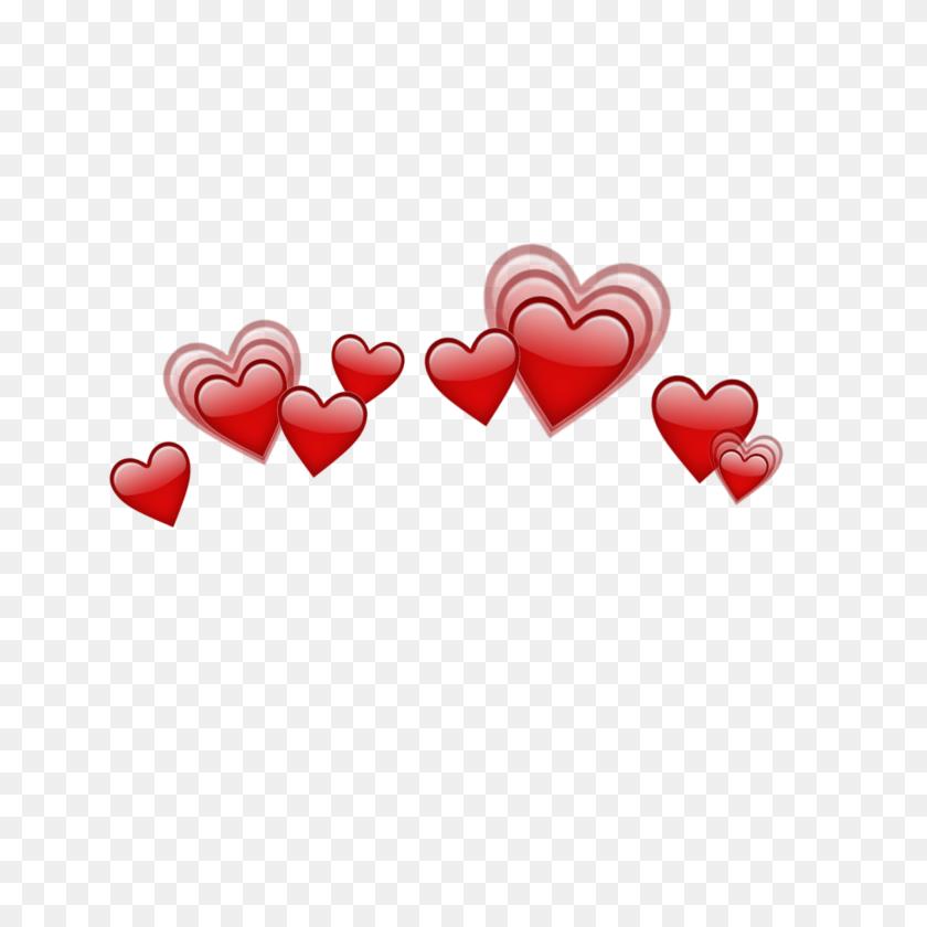 Heart Hearts Crown Emoji Emojis Red - Red Heart Emoji PNG – Stunning