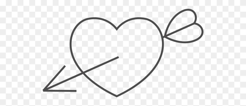 550x303 Heart Icons Arrow - Arrow With Heart Clipart