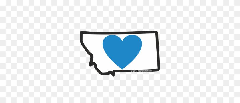 Heart In Montana Sticker - Montana Clipart
