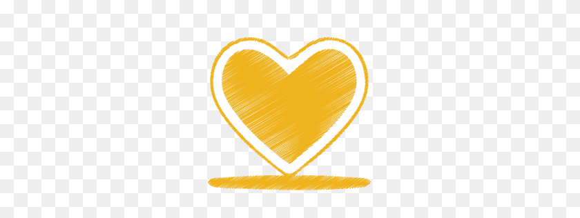 Heart, Love, Yellow Icon - Yellow Line PNG