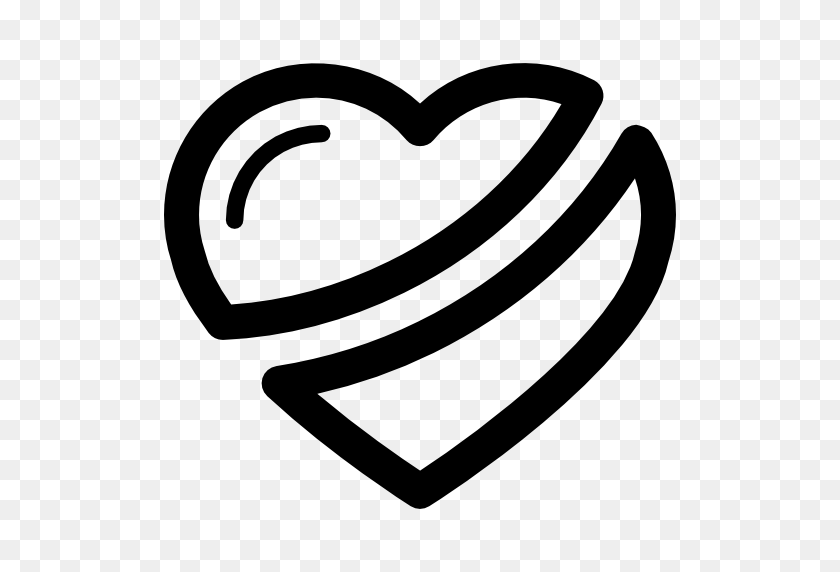 Heart Outline, Cross, Shapes, Cross Lines, Heart, Heart Shape Icon - Heart PNG Outline