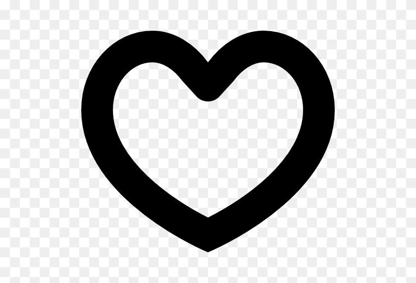 512x512 Heart Outline, Shapes, Hearts, Heart Shape, Heart, Hearts Outline - Heart Shape PNG