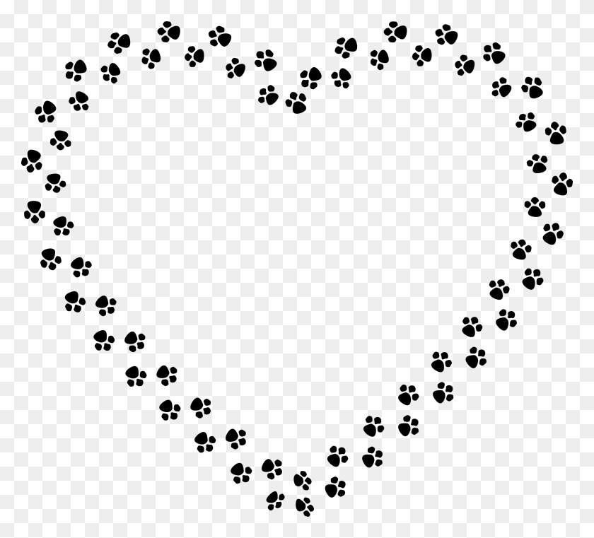 2256x2028 Heart Pictures Clipart Paw Print - Dog Paw Print Clip Art