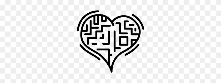 Heart, Shape, Labyrinth, Love, Romantic, Maze Icon - Maze Clipart