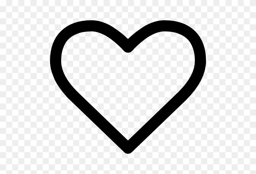 Heart Shape Outline - Heart Shape PNG