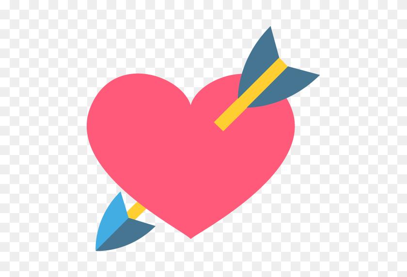 Heart With Arrow Emoji Icon Vector Symbol Free Download Vector - Heart With Arrow Clipart