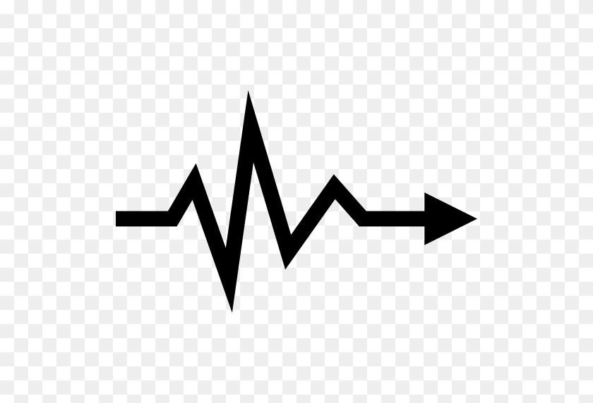 Heartbeat Lifeline Arrow Symbol - Heartbeat PNG