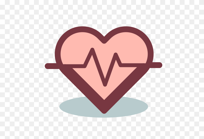 Heartbeat, Lifeline, Medical Icon With Png And Vector Format - Heart Beat Clipart