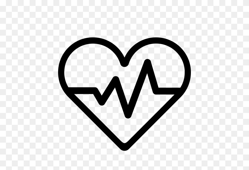 Heartbeat, Lifeline, Pulse Icon With Png And Vector Format - Heart Rate Clipart