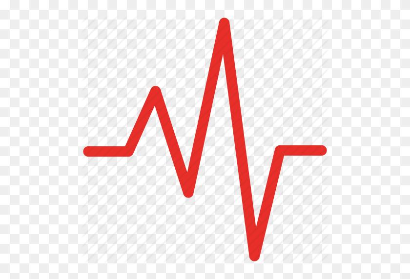 Heartbeat, Lifeline, Pulse, Pulse Wave Icon - Heartbeat Line PNG