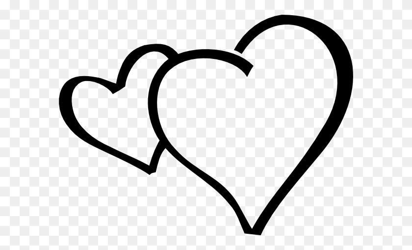 Hearts Clip Art - Valentine Heart Clipart Black And White