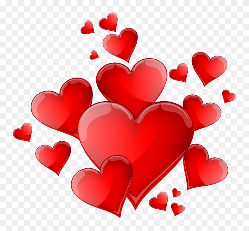 Hearts Decoration Png Clipart - PNG Images
