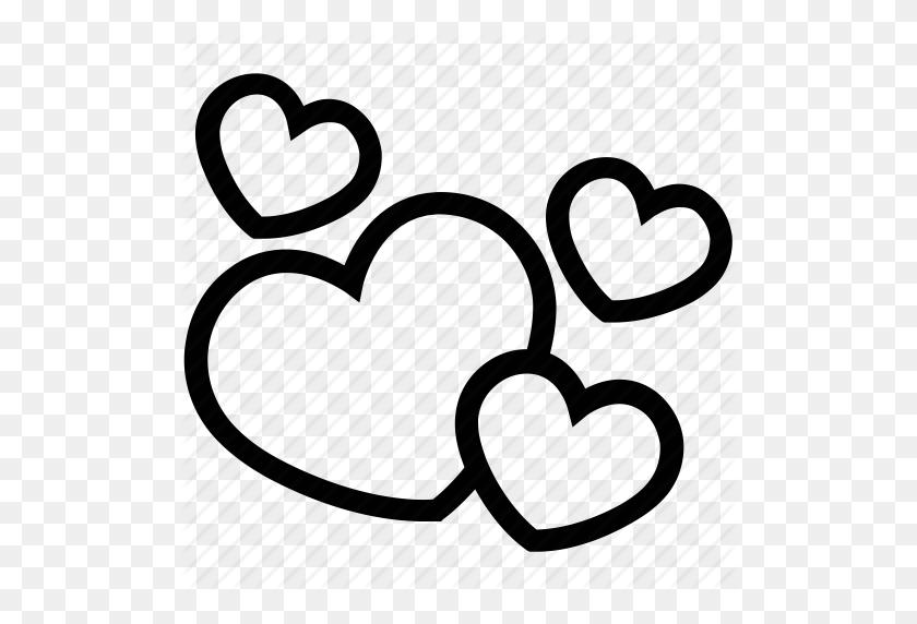 Hearts, Love Concept, Love Sign, Love Symbol, Valentine Hearts Icon - Heart Symbol PNG
