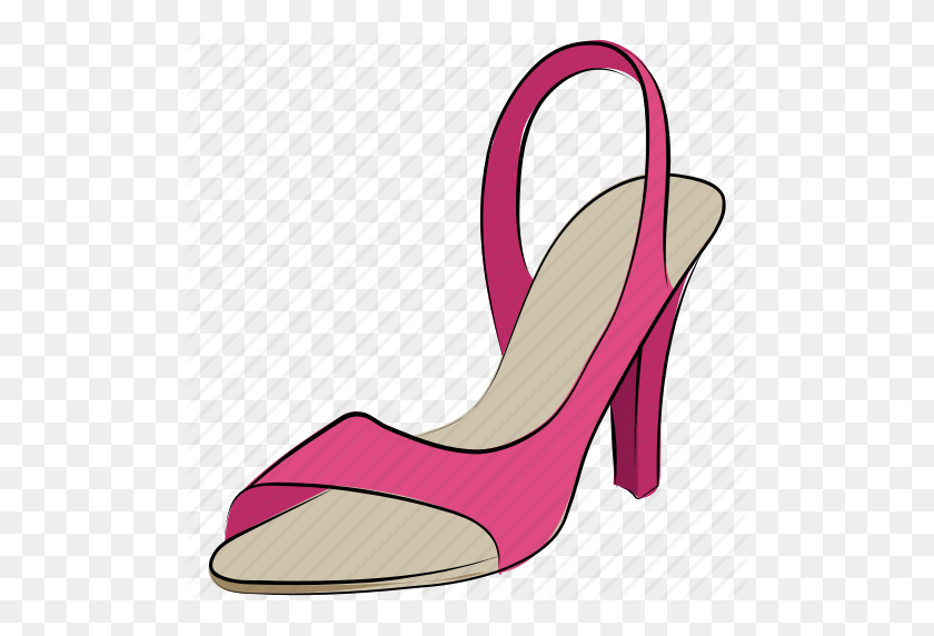 Heel Sandal, Heel Shoes, Lady Shoes, Stiletto Heel, Women Shoes Icon - Stiletto Heels Clipart