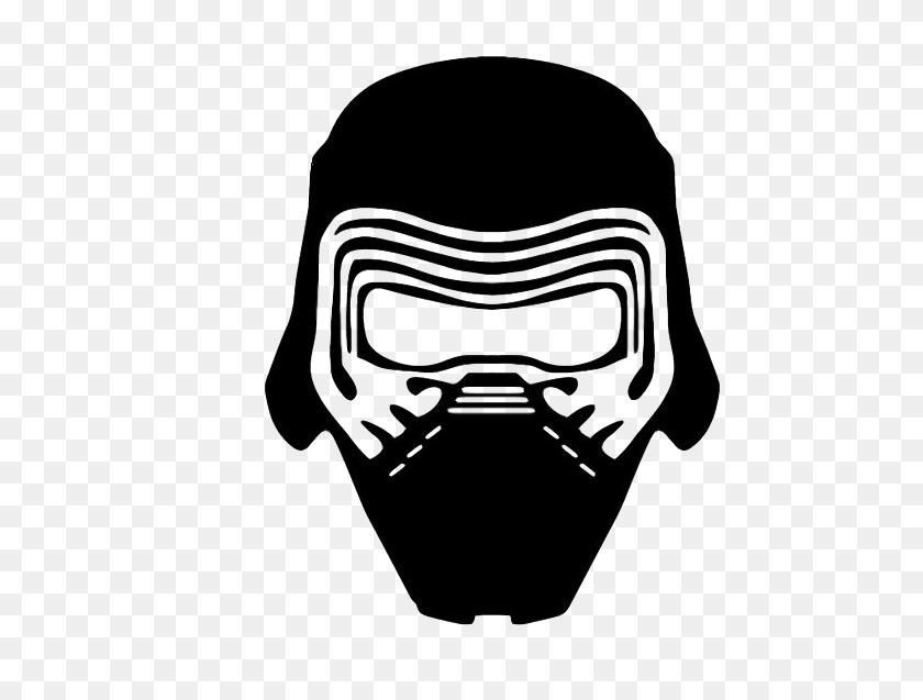 Helmet Clipart Kylo Ren - Football Helmet Clipart Black And White