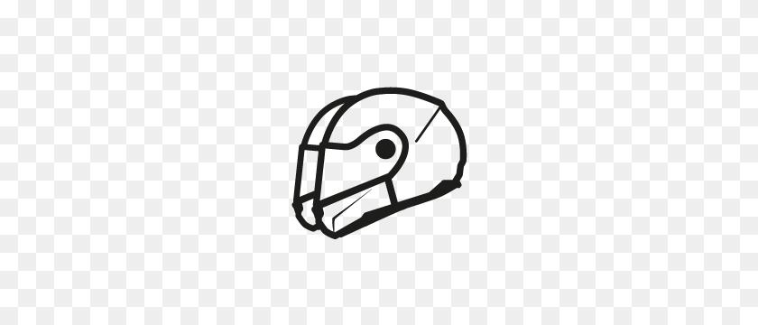 Helmets - Football Helmet Clipart Black And White