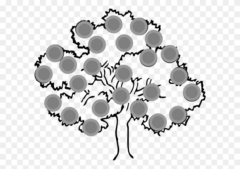 Hi Ho Cherry Tree Clip Art - Tree Clipart Black And White