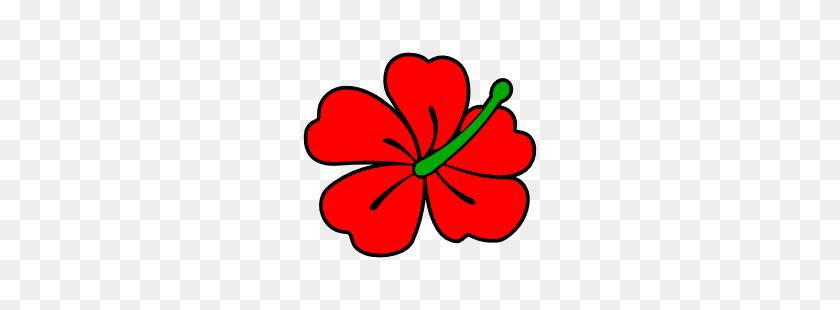 Red Hibiscus Flowers Clip Art