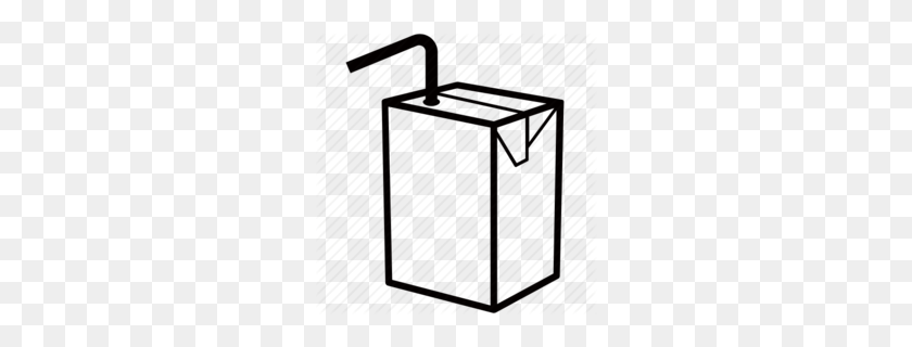 Hic Juice Box Clipart - Juice Clipart Black And White