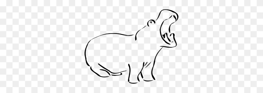 Hippo Clip Art Black And White Free Clipart Images Image - Pets Clipart Black And White