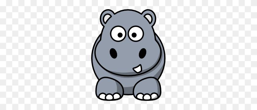 Hippo Clip Art Free Vector - Free Zoo Animal Clipart
