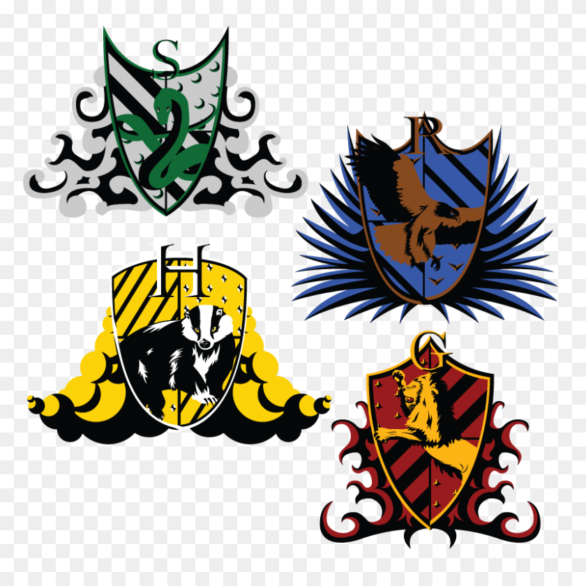 Hogwarts House Crests - Slytherin Crest PNG