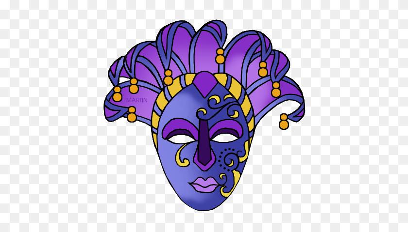 Holiday Clip Art - Mardi Gras Mask Clip Art