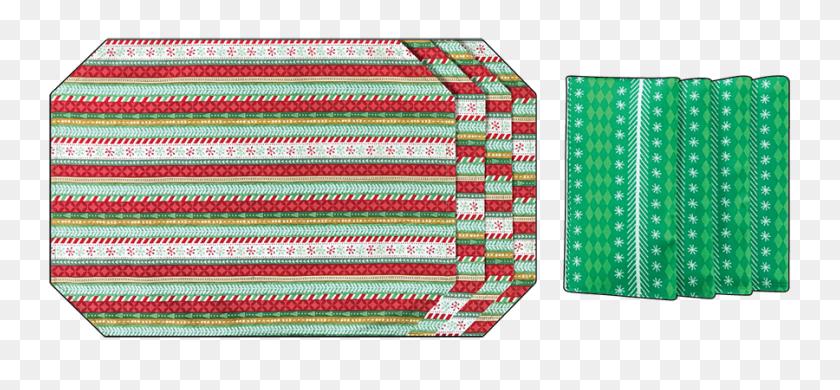 Holiday Snowflakes Placemat Napkin Set Serviettes - Napkin PNG
