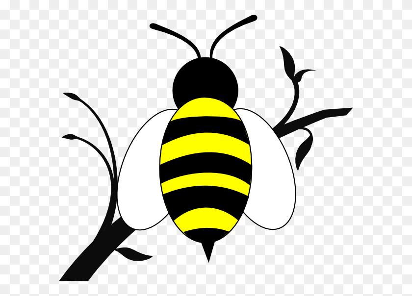 Honey Bee Clip Art Honey Bee Over Branch Clip Art - Encouragement Clipart