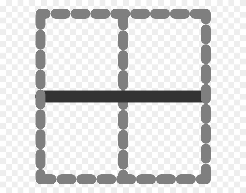Horizontal Inside Border Icon Clip Art - Horizontal Line Clipart