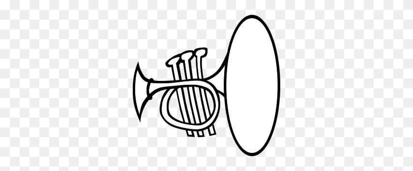 300x289 Horn Clip Art - Mellophone Clipart