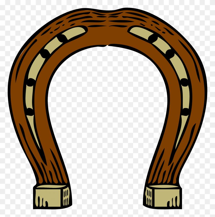 Horse Shoe Horseshoes Clip Art - Golden Plates Clipart