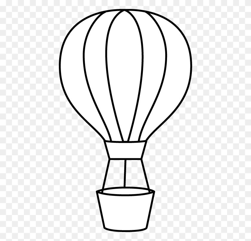 446x747 Hot Air Balloon Clip Art - Music Notes Clipart Black And White